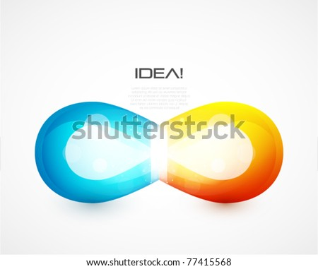 Technological glass shiny shapes background - stock vector
