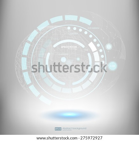 Technology abstract background. fantastic abstract background. Vector futuristic illustration.  - stock vector