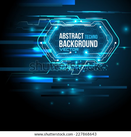 Technology abstract background, Futuristic HUD,  vector - stock vector