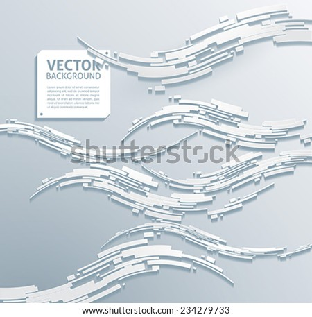 technology abstract backgrounds waves - stock vector