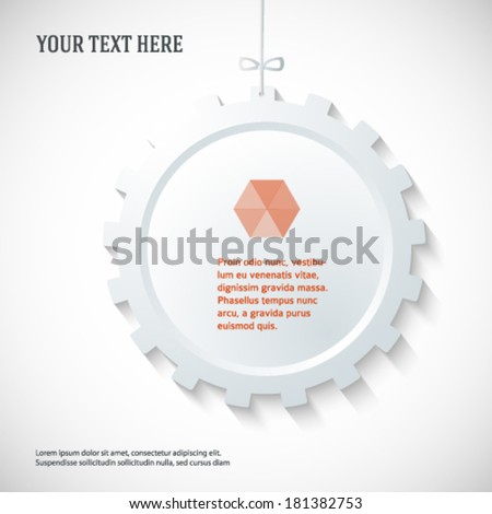 Technology abstract design element on white background. Vector illustration eps 10. Can use for business brochure layout, web banner design, coverpage magazine, flyer template, advertising booklet - stock vector