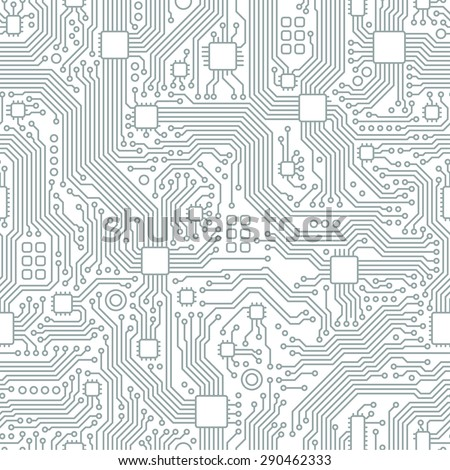 Technology abstract motherboard illustration background. Vector graphic template. - stock vector