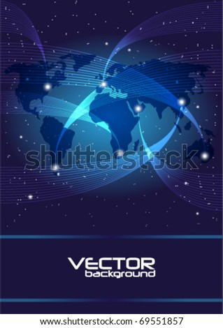 Technology - Background - stock vector
