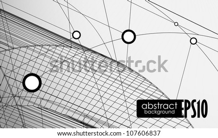 Technology background. Vector illustration. Eps 10. - stock vector