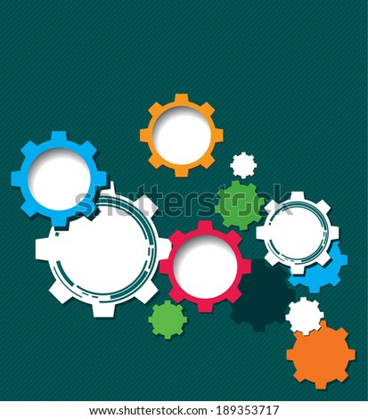 Technology background with gear wheel, web user interfaces and applications. Vector background. - stock vector