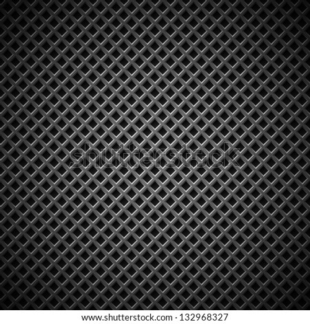 Technology background with seamless black carbon texture for internet sites, web user interfaces (UI), applications (apps) and business presentations. Vector Pattern - stock vector