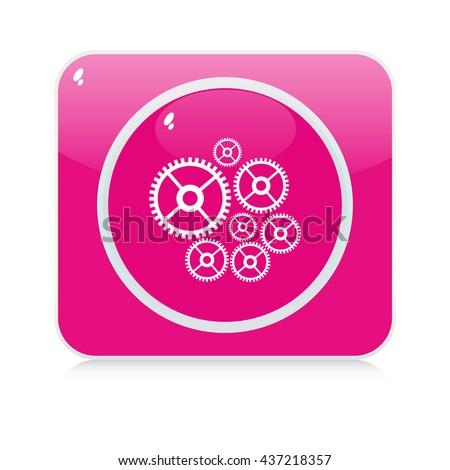 technology button - stock vector