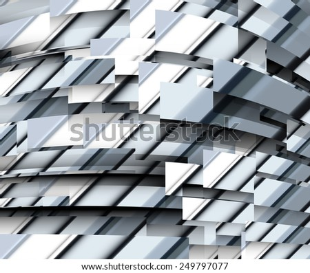 Technology concept abstract futuristic background design. Vector illustration. - stock vector