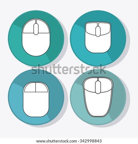 Technology concept and mouse icons design, vector illustration 10 eps graphic. - stock vector