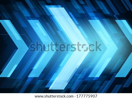 Technology future arrows abstract vector background, moving forward concept - stock vector