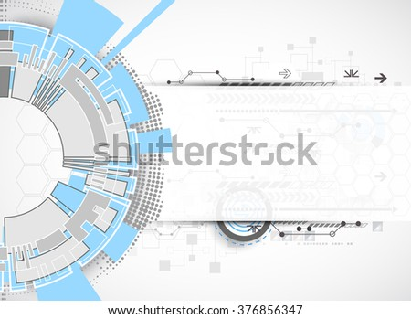 Technology futuristic digital background. Vector illustration - stock vector