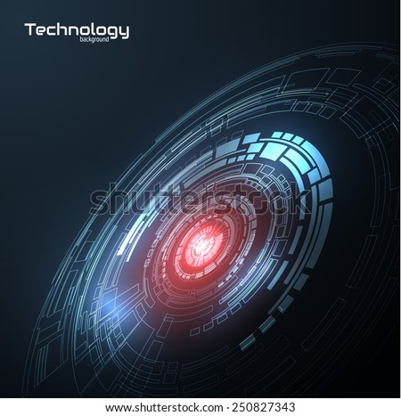 Technology futuristic structure vector background with space for text. Vector eps10. - stock vector