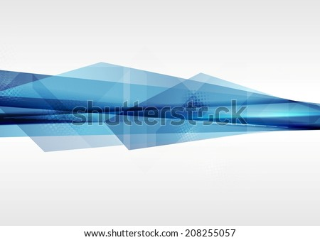 Technology geometry abstract blue background. Vector design - stock vector