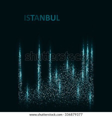 Technology image of Istanbul. The concept vector illustration eps10 - stock vector