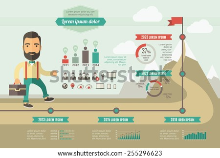 Technology Infographic Template - stock vector