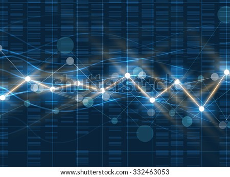 Technology innovation background, idea of global business solution - stock vector