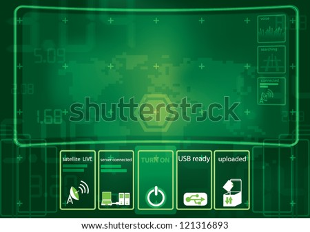 technology interface background - stock vector