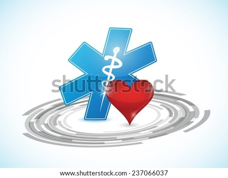 technology medical connection illustration design over a white background - stock vector