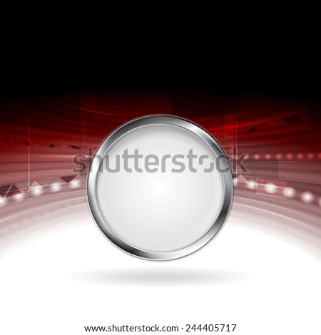 Technology motion design with metal circle frame. Vector background - stock vector