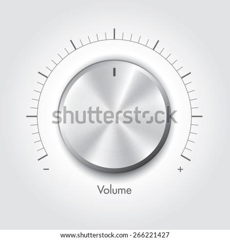 Technology music button - stock vector