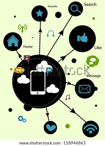 technology symbol - stock vector