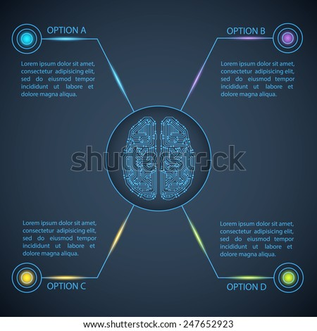 Technology template. Circuit board background. Can be used for infographic. EPS10 vector - stock vector