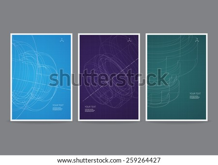 Technology Vector Flyer Design - stock vector