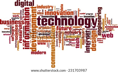 Technology word cloud concept. Vector illustration - stock vector