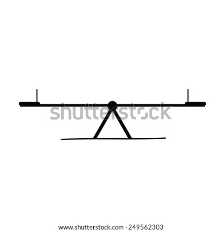 teeter black vector - stock vector