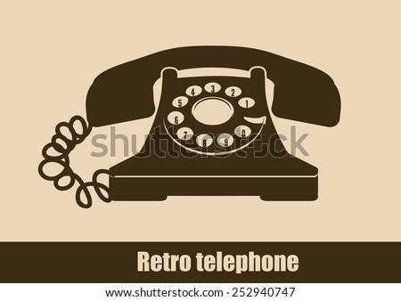 Telephone design over beige background, vector illustration. - stock vector