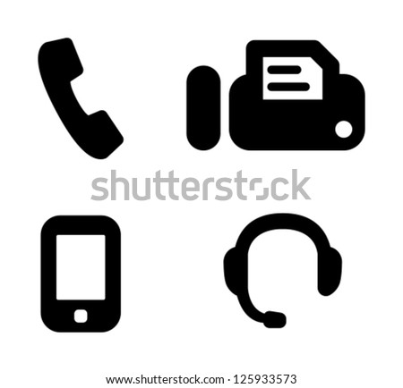 Telephone, fax, cell phone, hotline - stock vector
