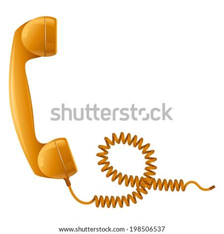 Telephone Receiver - stock vector