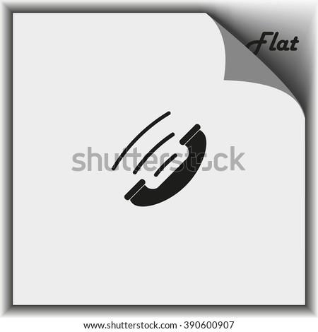Telephone receiver icon. - stock vector