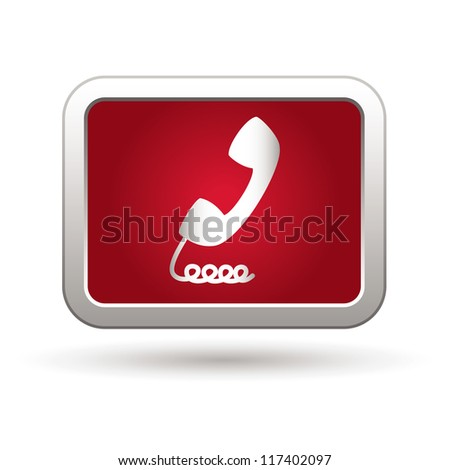Telephone receiver icon. Vector illustration - stock vector