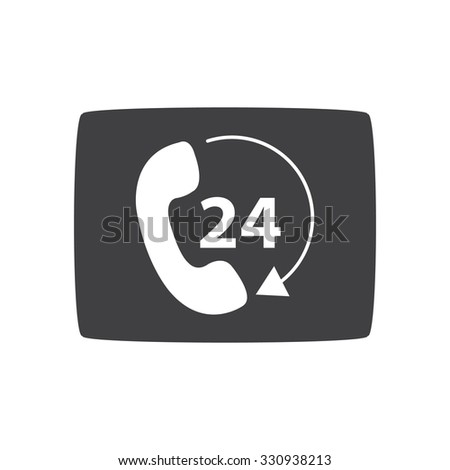 Telephone Receiver Vector Icon Phone Icon Stock Vector