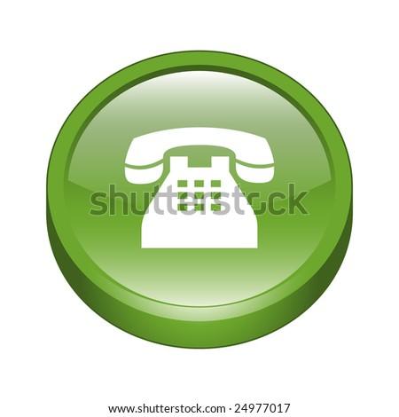 Telephone Sign Icon Button - stock vector