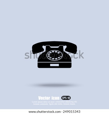 telephone vector icon - stock vector