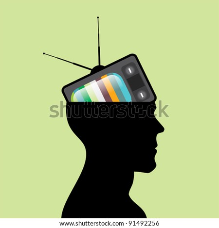 Television head. - stock vector