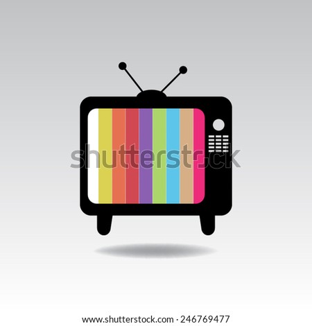 Television icon - stock vector