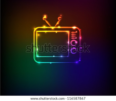 Television sign,Abstract background,Vector - stock vector