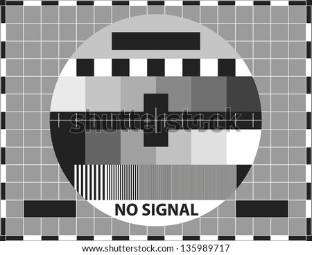 Television test pattern. Used to prove the quality of reception. - stock vector