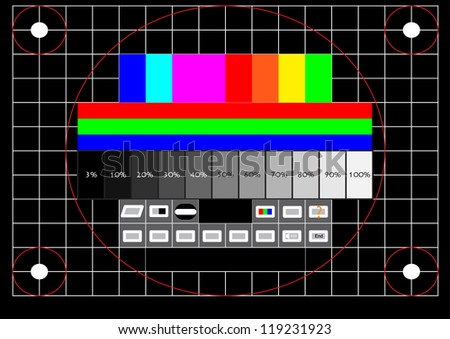 Television test screen - stock vector