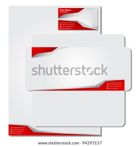 template business card - stock vector