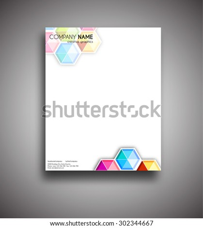 Template corporate style Letterhead - stock vector
