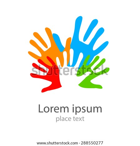 Template design -  symbol of  team, friendship, united , support, family  and others . - stock vector