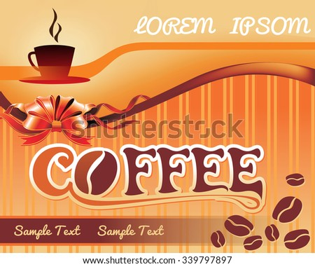 Template for a tea, coffee background - stock vector