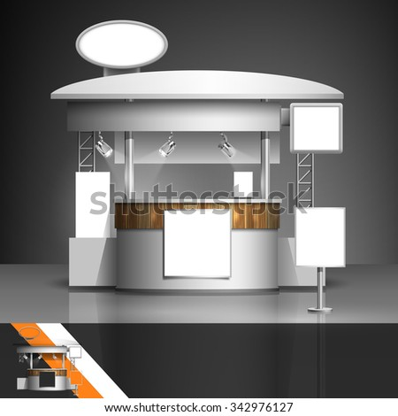 Template for advertising and corporate identity. Exhibition stand. Blank mockup for design. Vector white object - stock vector