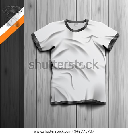 Template for advertising and corporate identity. Men's t-shirt. Blank mockup for design. Vector white object - stock vector
