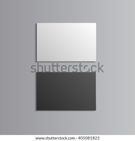 Template for advertising, branding and corporate identity. Business Cards. Blank mockup for design. Vector white object. EPS 10 - stock vector