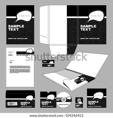 Template for Business artworks. - stock vector